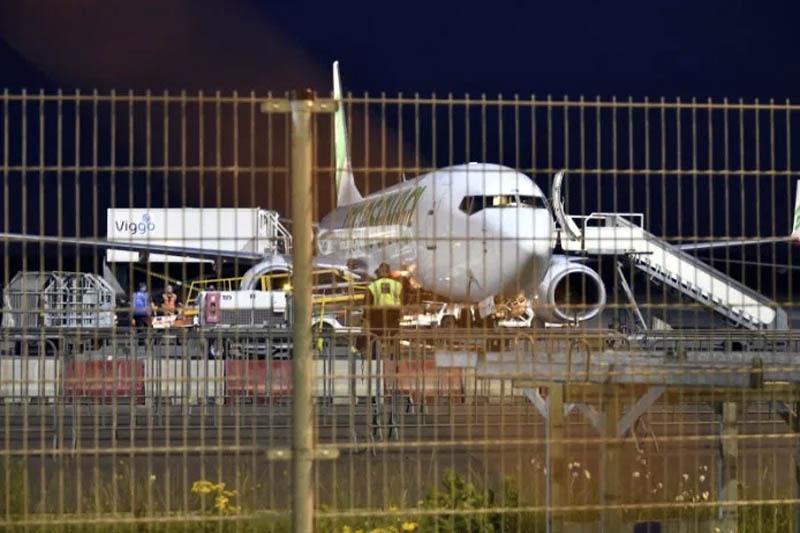 Pożar silnika samolotu Transavia w Eindhoven.